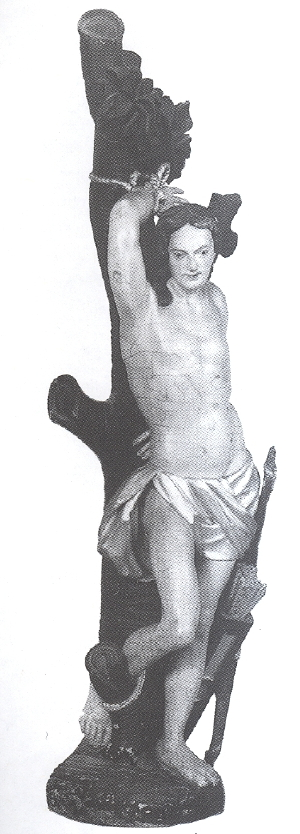 Statue des hl. Sebastian