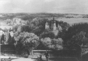 Blick von Klosterrath auf Burg Rode
